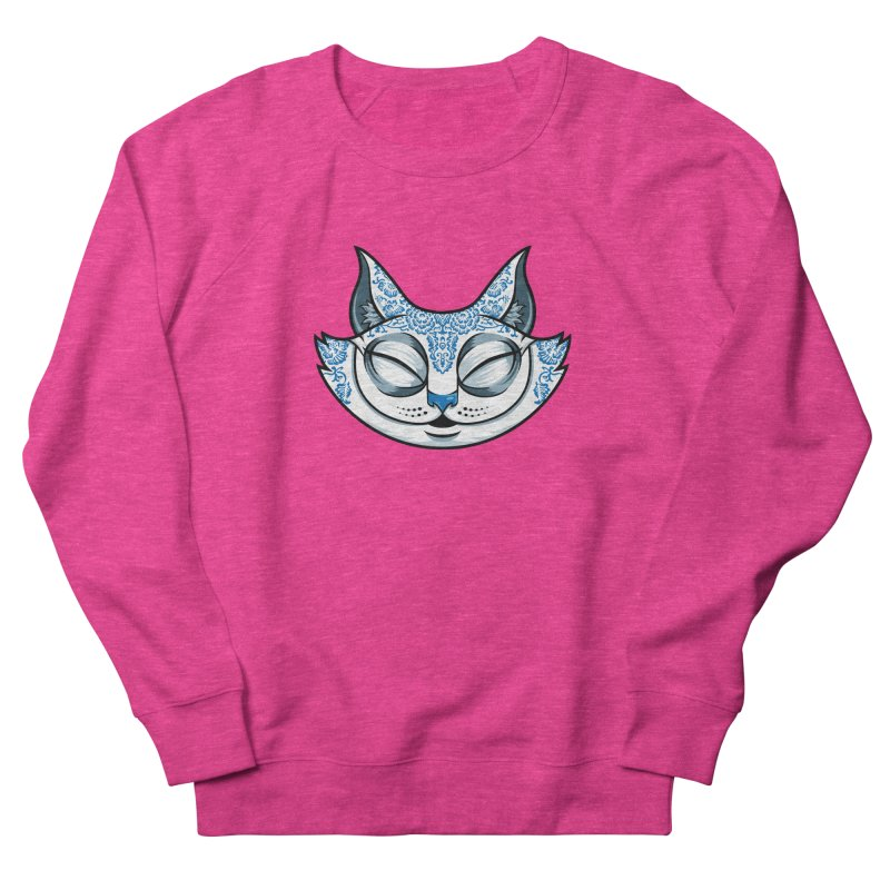 Cheshire Cat - Blue Men's French Terry Sweatshirt by bennygraphix's Artist Shop