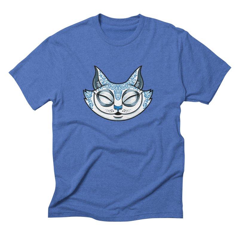 Cheshire Cat - Blue Men's Triblend T-Shirt by bennygraphix's Artist Shop