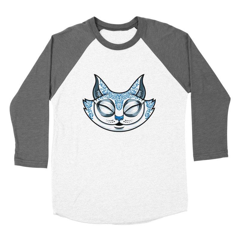 Cheshire Cat - Blue Women's Baseball Triblend Longsleeve T-Shirt by bennygraphix's Artist Shop
