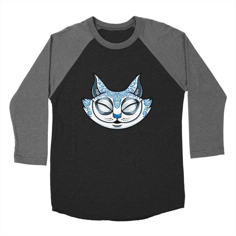 Cheshire Cat - Blue Men's Baseball Triblend Longsleeve T-Shirt by bennygraphix's Artist Shop