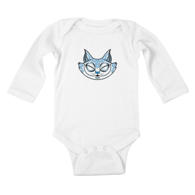 Cheshire Cat - Blue Kids Baby Longsleeve Bodysuit by bennygraphix's Artist Shop
