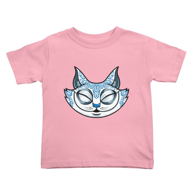 Cheshire Cat - Blue Kids Toddler T-Shirt by bennygraphix's Artist Shop
