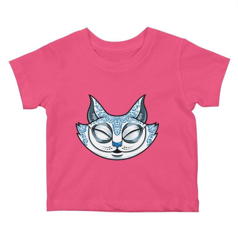 Cheshire Cat - Blue Kids Baby T-Shirt by bennygraphix's Artist Shop