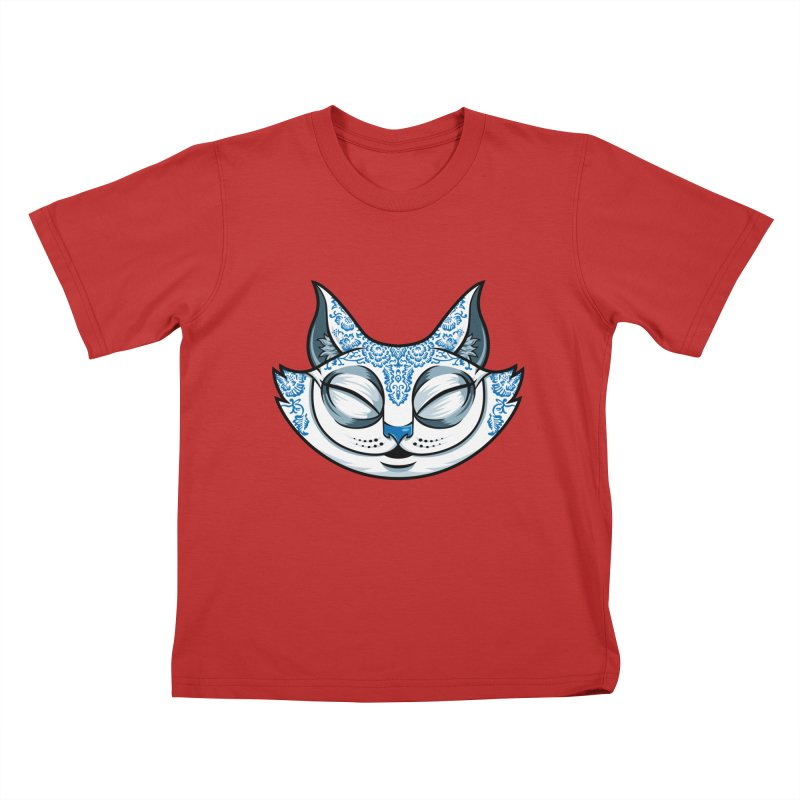 Cheshire Cat - Blue Kids T-Shirt by bennygraphix's Artist Shop