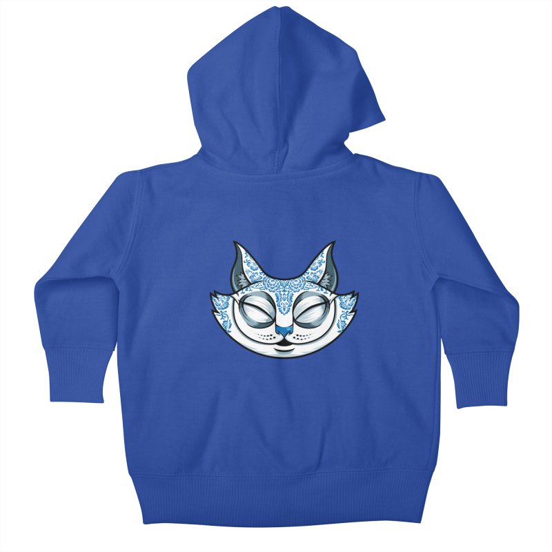Cheshire Cat - Blue Kids Baby Zip-Up Hoody by bennygraphix's Artist Shop