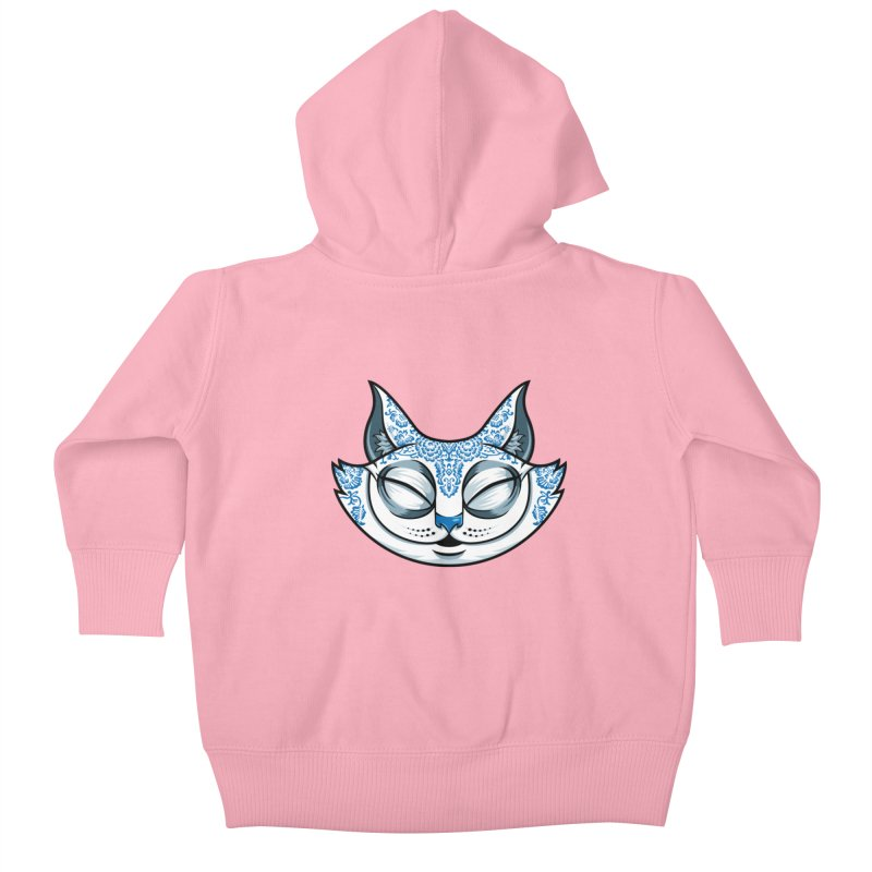 Cheshire Cat - Blue Kids Baby Zip-Up Hoody by bennygraphix's Artist Shop