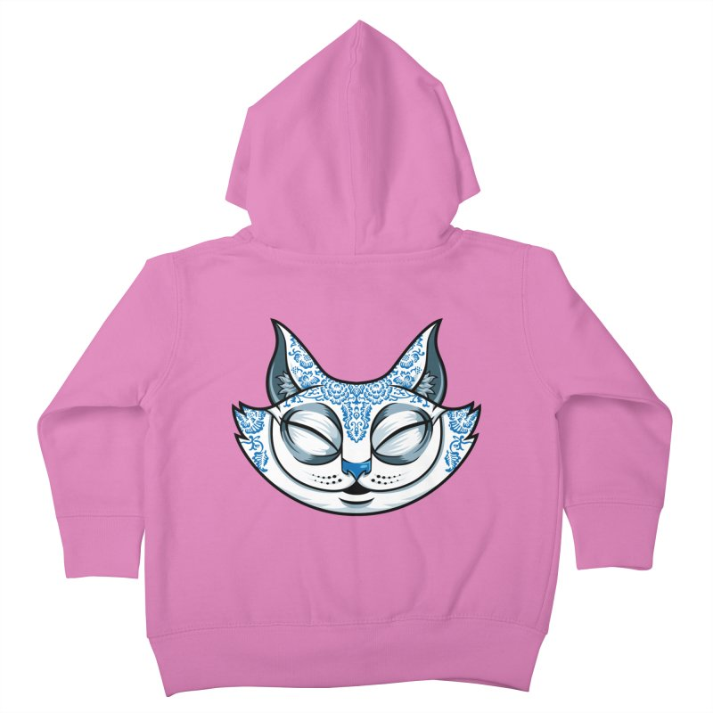 Cheshire Cat - Blue Kids Toddler Zip-Up Hoody by bennygraphix's Artist Shop
