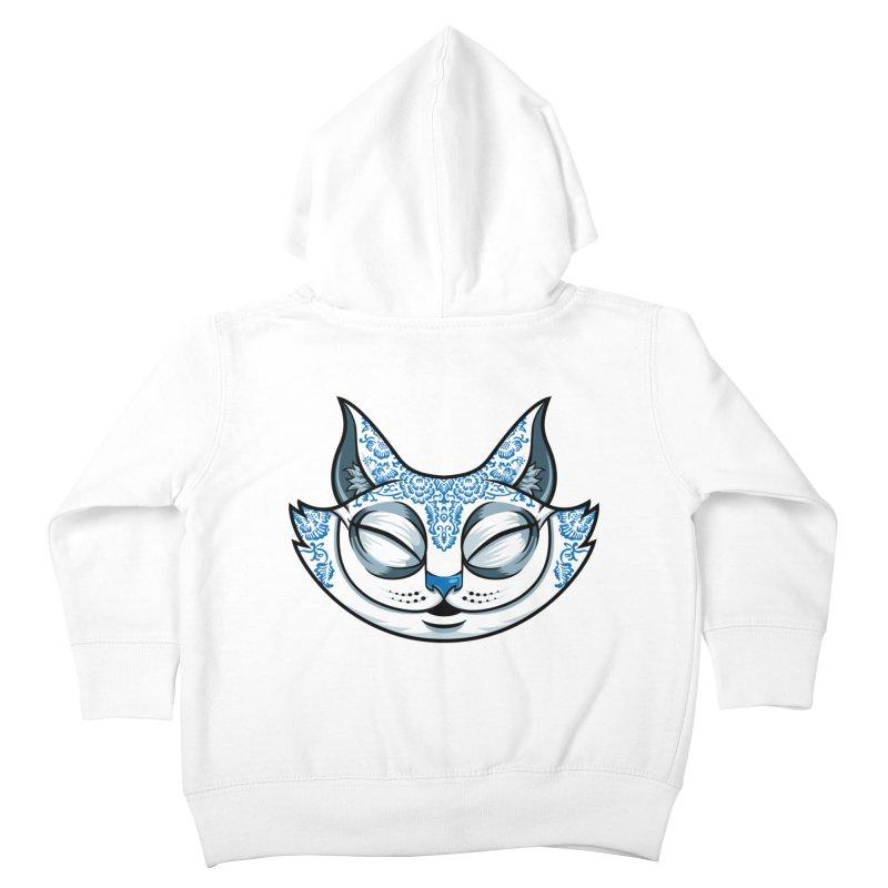 Cheshire Cat - Blue Kids Toddler Zip-Up Hoody by bennygraphix's Artist Shop