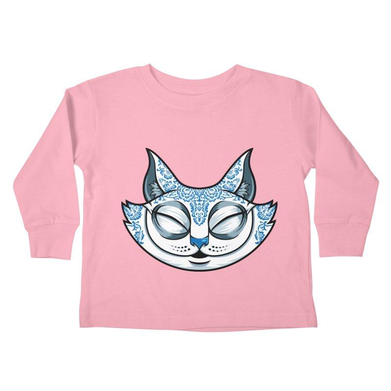 Cheshire Cat - Blue Kids Toddler Longsleeve T-Shirt by bennygraphix's Artist Shop