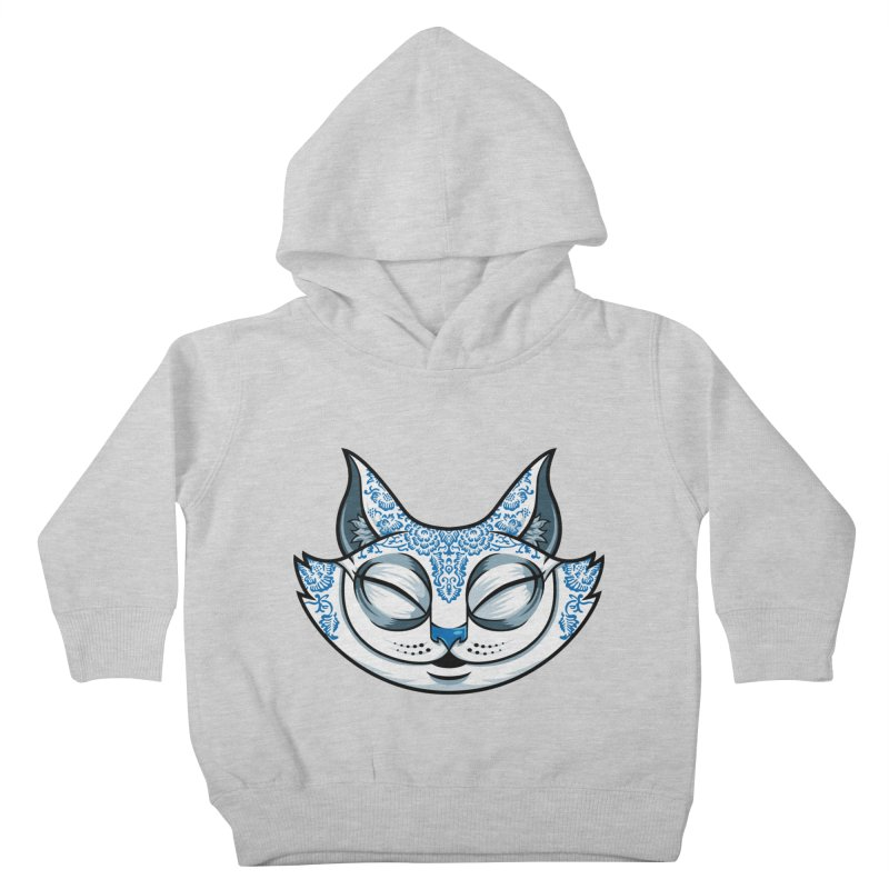 Cheshire Cat - Blue Kids Toddler Pullover Hoody by bennygraphix's Artist Shop