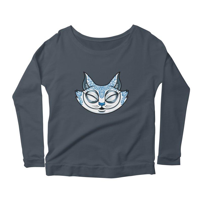 Cheshire Cat - Blue Women's Scoop Neck Longsleeve T-Shirt by bennygraphix's Artist Shop