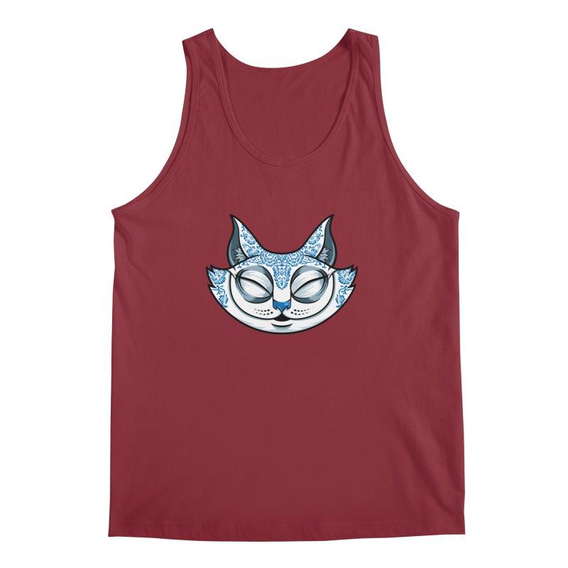 Cheshire Cat - Blue Men's Regular Tank by bennygraphix's Artist Shop