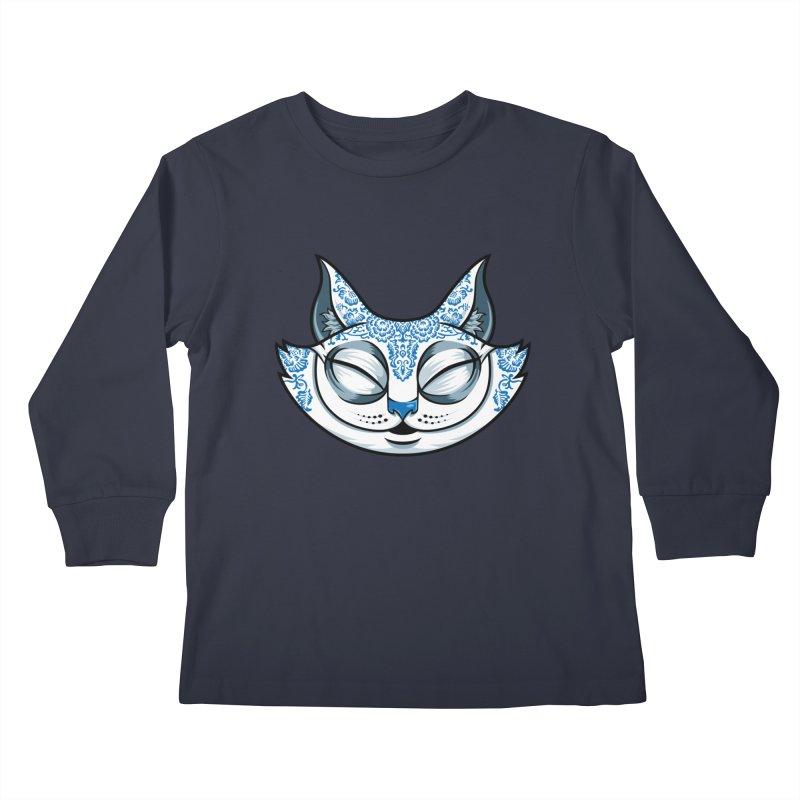 Cheshire Cat - Blue Kids Longsleeve T-Shirt by bennygraphix's Artist Shop
