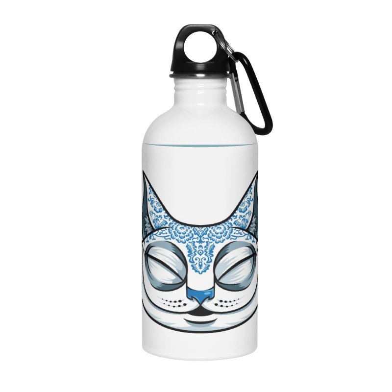Cheshire Cat - Blue Accessories Water Bottle by bennygraphix's Artist Shop