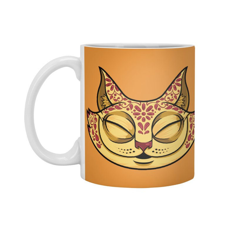 Cheshire Cat - Red Accessories Mug by bennygraphix's Artist Shop