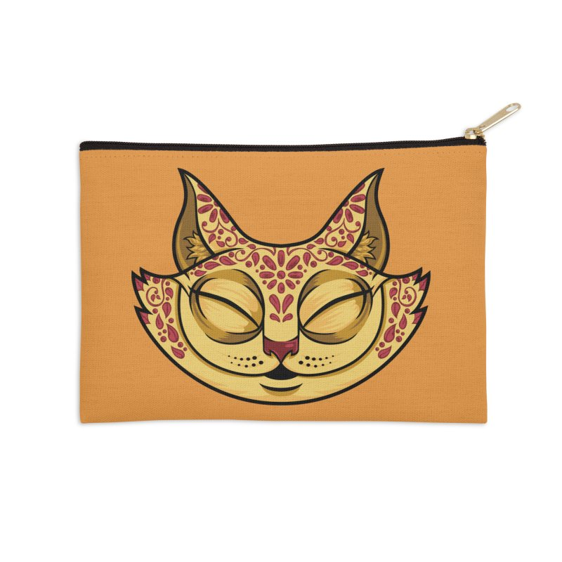 Cheshire Cat - Red Accessories Zip Pouch by bennygraphix's Artist Shop
