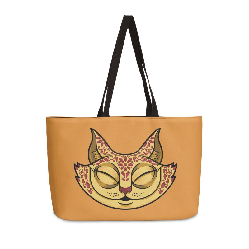 Cheshire Cat - Red Accessories Weekender Bag Bag by bennygraphix's Artist Shop
