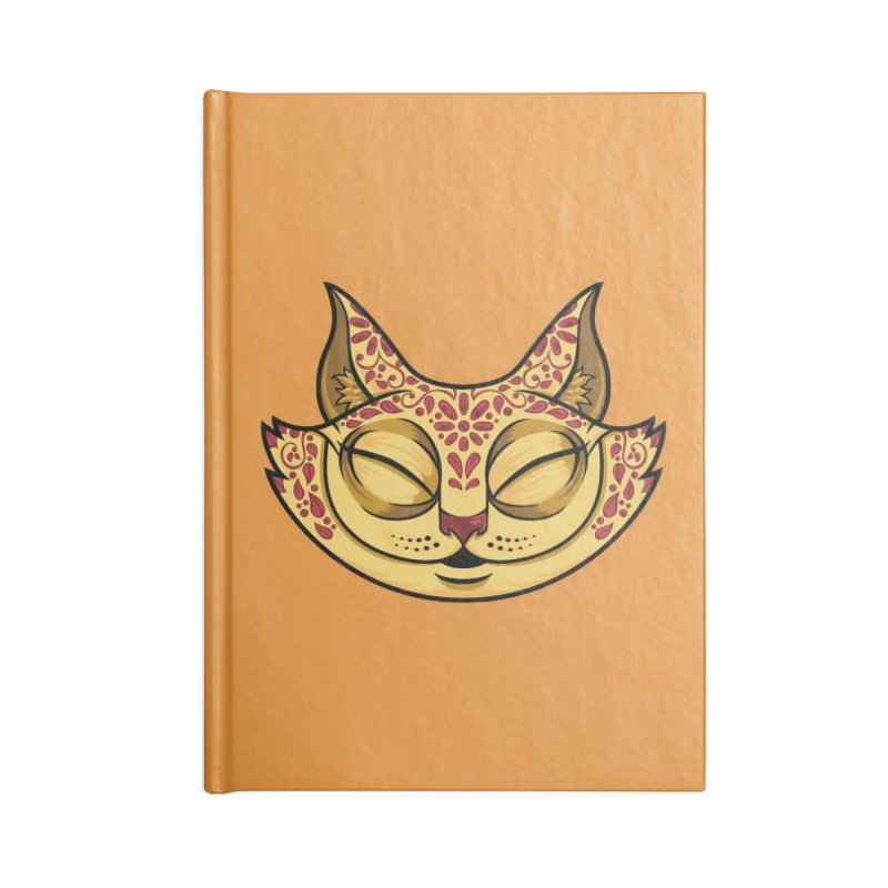 Cheshire Cat - Red Accessories Blank Journal Notebook by bennygraphix's Artist Shop