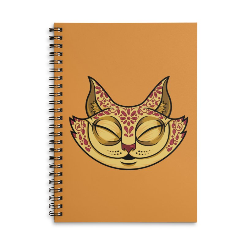 Cheshire Cat - Red Accessories Lined Spiral Notebook by bennygraphix's Artist Shop