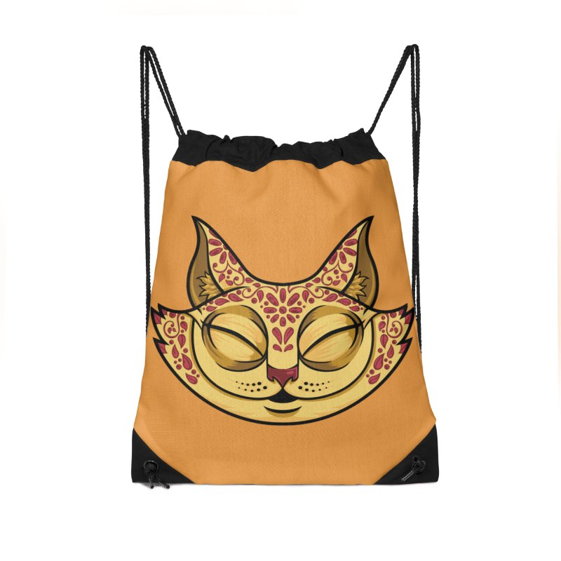 Cheshire Cat - Red Accessories Drawstring Bag Bag by bennygraphix's Artist Shop