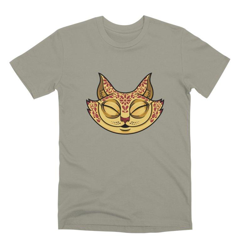 Cheshire Cat - Red Men's Premium T-Shirt by bennygraphix's Artist Shop