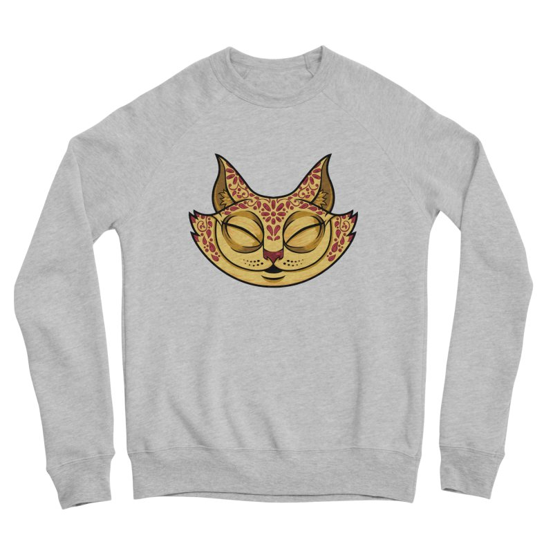 Cheshire Cat - Red Women's Sponge Fleece Sweatshirt by bennygraphix's Artist Shop