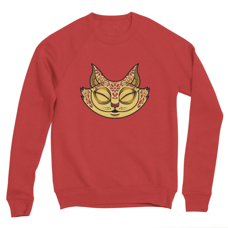 Cheshire Cat - Red Men's Sponge Fleece Sweatshirt by bennygraphix's Artist Shop