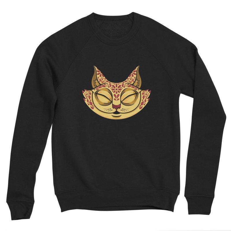 Cheshire Cat - Red Men's Sponge Fleece Sweatshirt by bennygraphix's Artist Shop