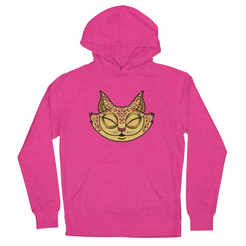 Cheshire Cat - Red Women's French Terry Pullover Hoody by bennygraphix's Artist Shop