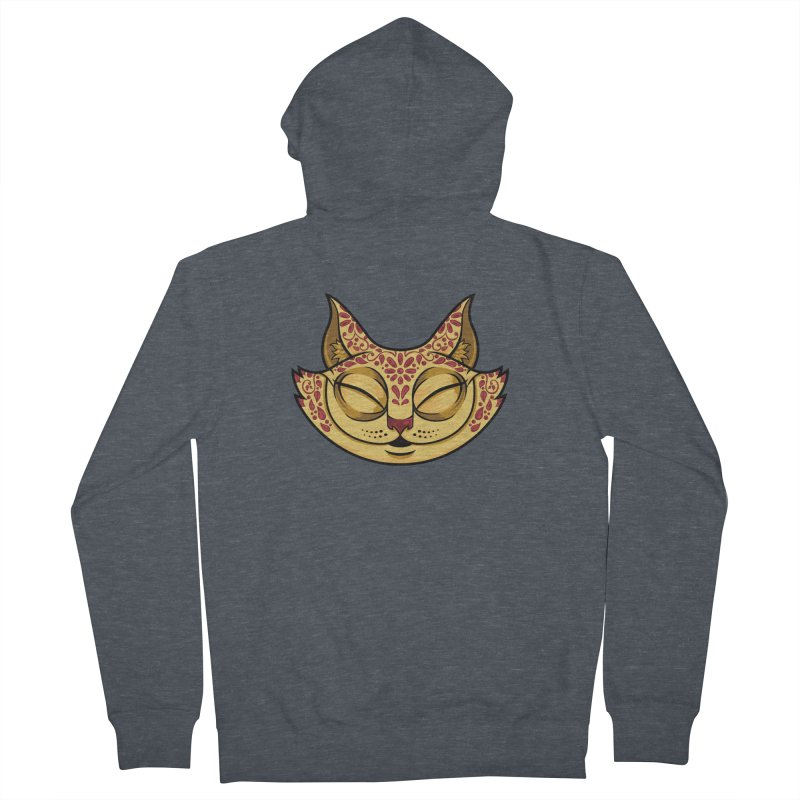 Cheshire Cat - Red Men's French Terry Zip-Up Hoody by bennygraphix's Artist Shop