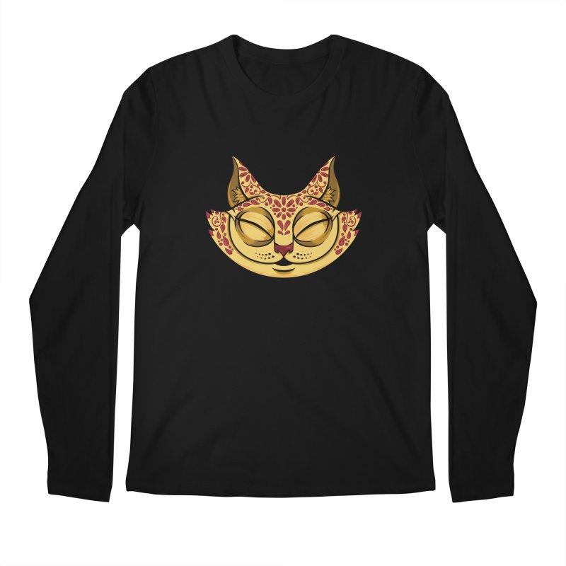 Cheshire Cat - Red Men's Regular Longsleeve T-Shirt by bennygraphix's Artist Shop