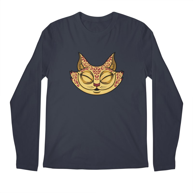 Cheshire Cat - Red Men's Regular Longsleeve T-Shirt by bennygraphix's Artist Shop