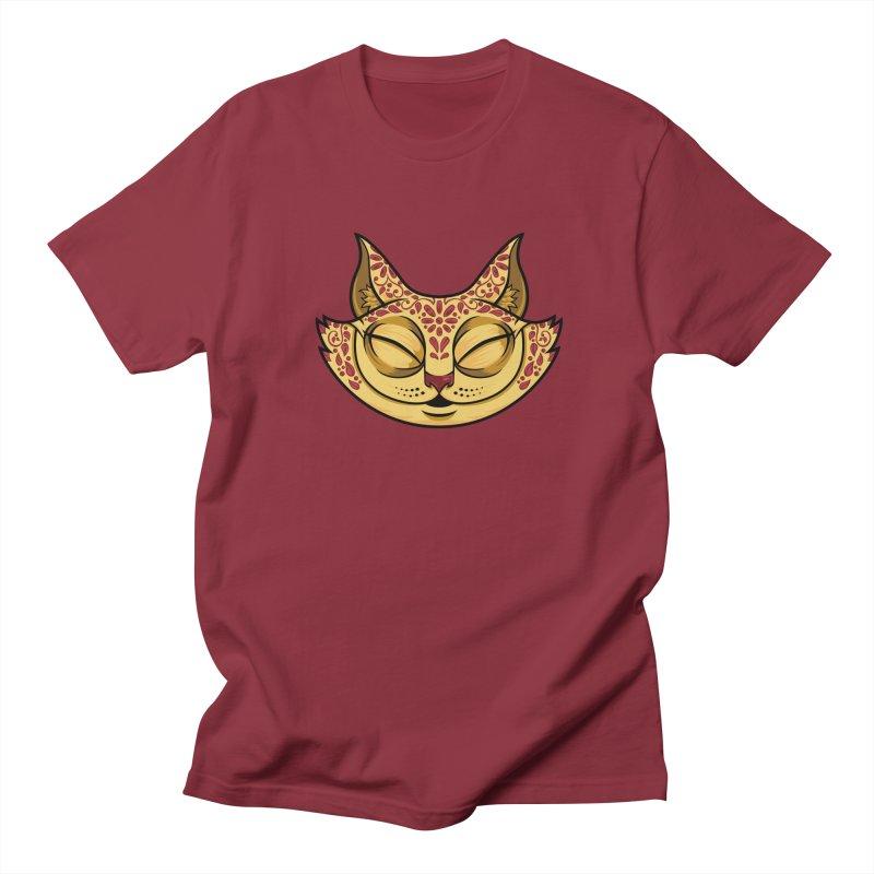 Cheshire Cat - Red Men's Regular T-Shirt by bennygraphix's Artist Shop