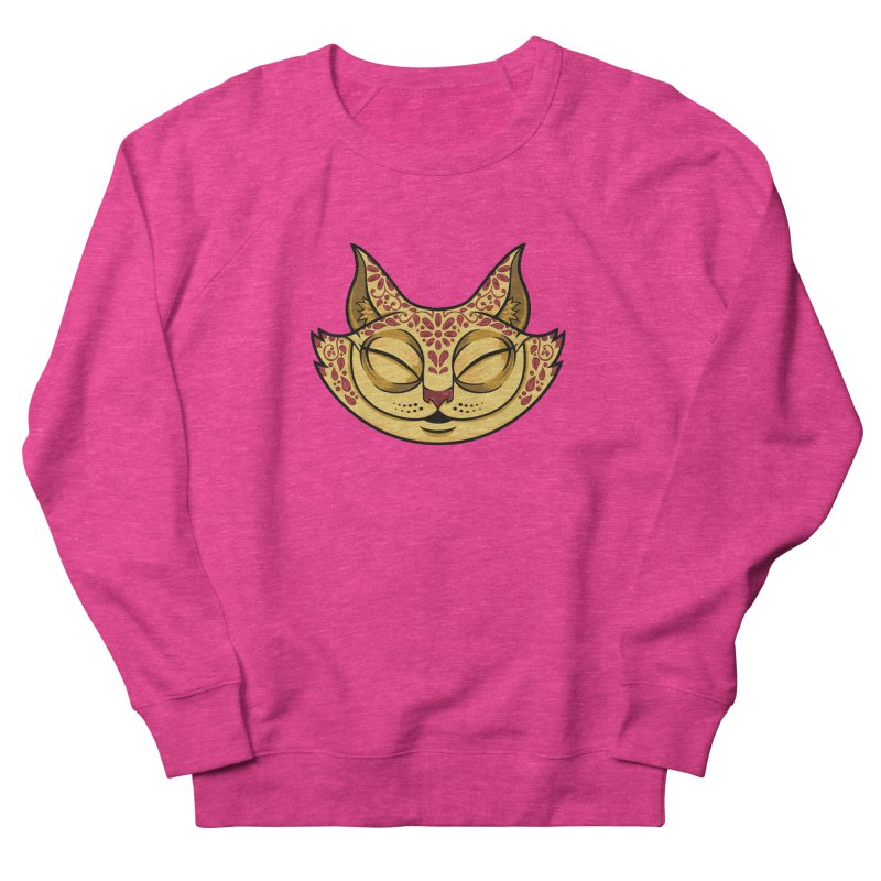 Cheshire Cat - Red Men's French Terry Sweatshirt by bennygraphix's Artist Shop