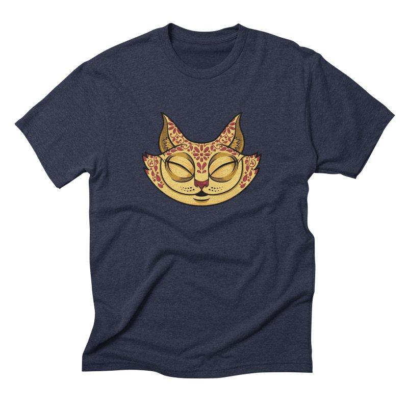 Cheshire Cat - Red Men's Triblend T-Shirt by bennygraphix's Artist Shop