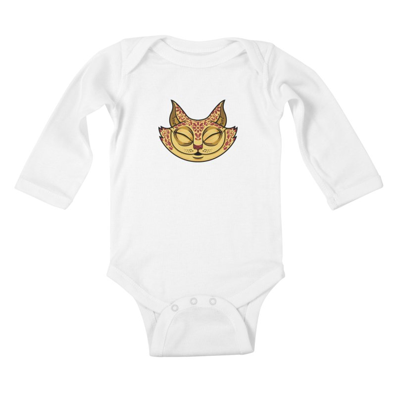 Cheshire Cat - Red Kids Baby Longsleeve Bodysuit by bennygraphix's Artist Shop