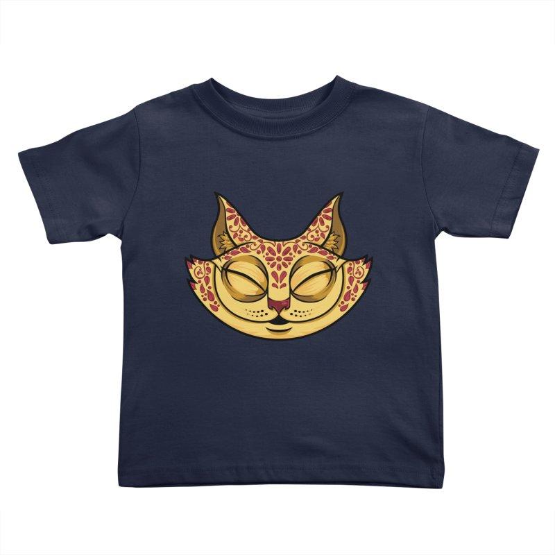 Cheshire Cat - Red Kids Toddler T-Shirt by bennygraphix's Artist Shop