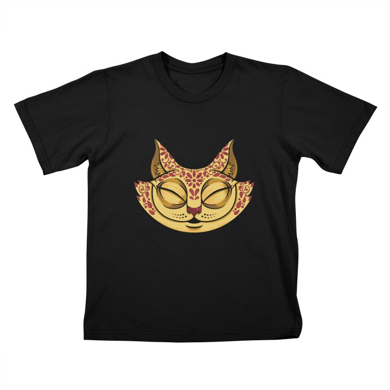 Cheshire Cat - Red Kids T-Shirt by bennygraphix's Artist Shop