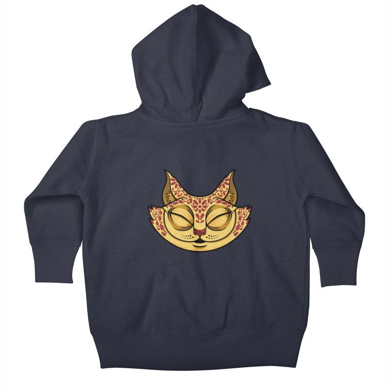 Cheshire Cat - Red Kids Baby Zip-Up Hoody by bennygraphix's Artist Shop