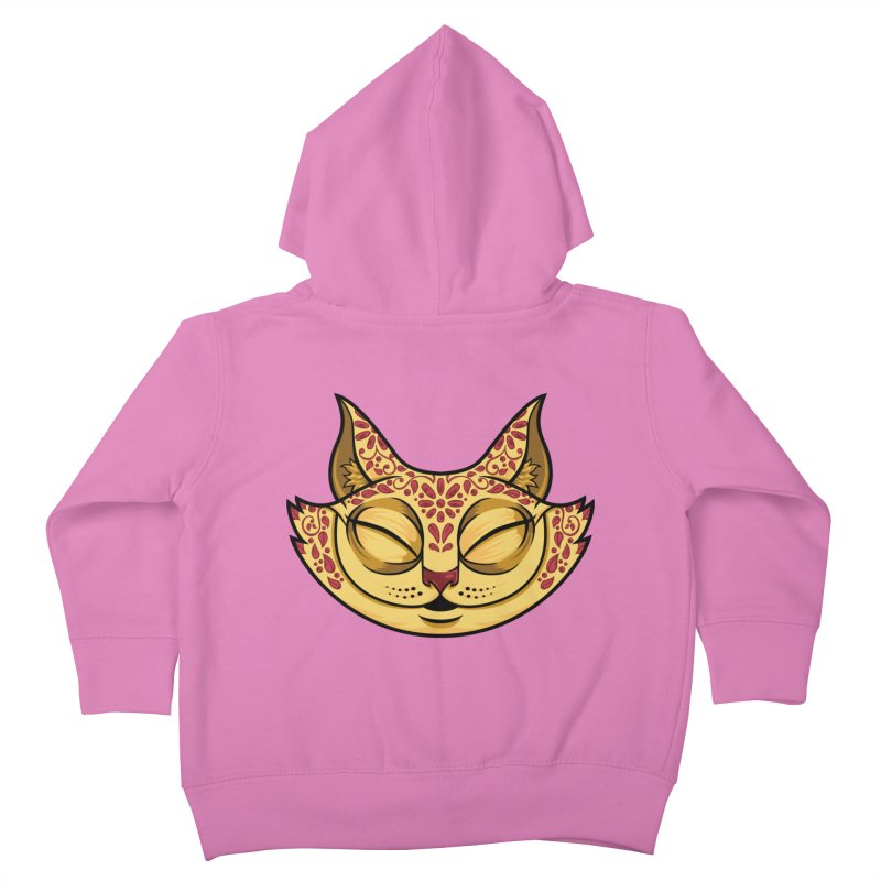 Cheshire Cat - Red Kids Toddler Zip-Up Hoody by bennygraphix's Artist Shop