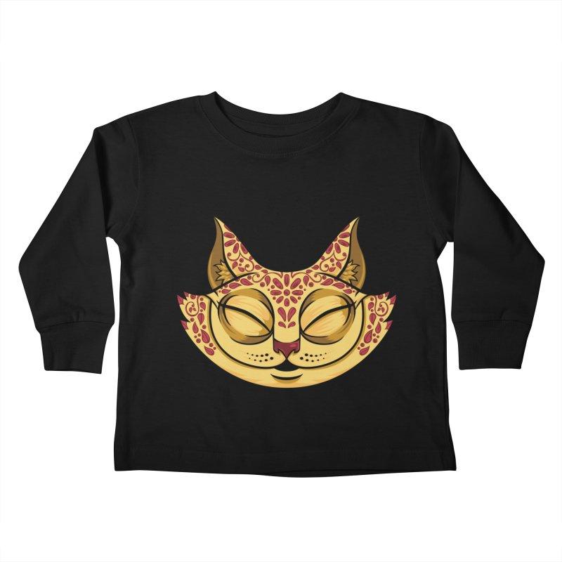 Cheshire Cat - Red Kids Toddler Longsleeve T-Shirt by bennygraphix's Artist Shop