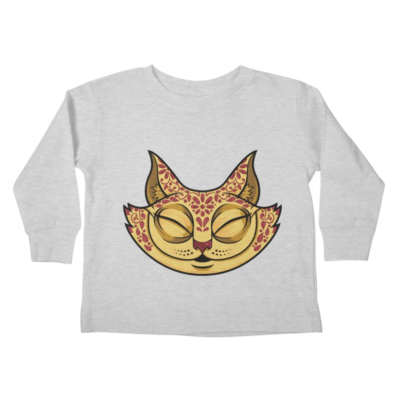 Cheshire Cat - Red Kids Toddler Longsleeve T-Shirt by bennygraphix's Artist Shop