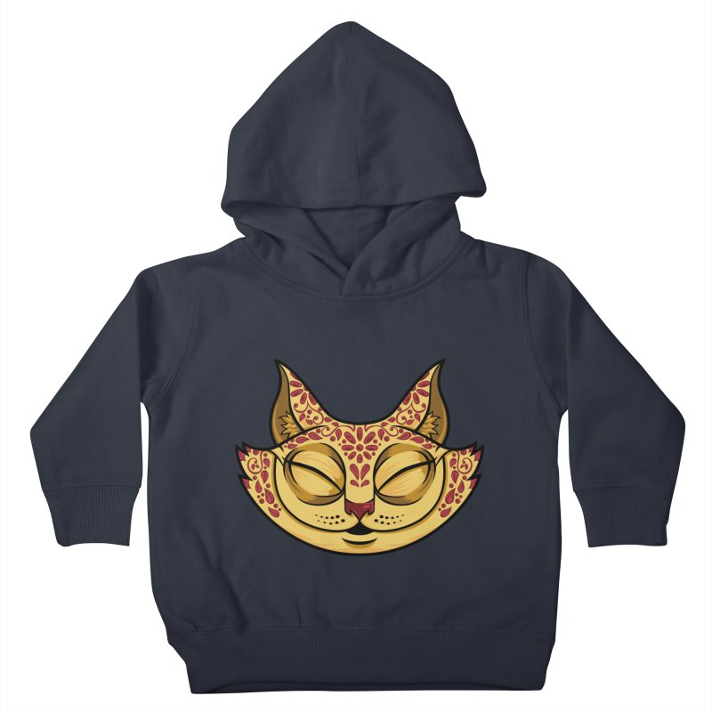 Cheshire Cat - Red Kids Toddler Pullover Hoody by bennygraphix's Artist Shop