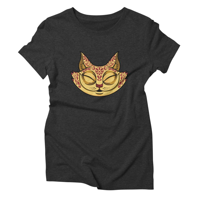 Cheshire Cat - Red Women's Triblend T-Shirt by bennygraphix's Artist Shop