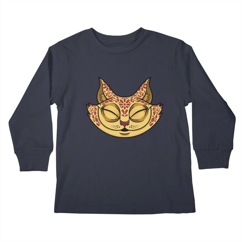 Cheshire Cat - Red Kids Longsleeve T-Shirt by bennygraphix's Artist Shop