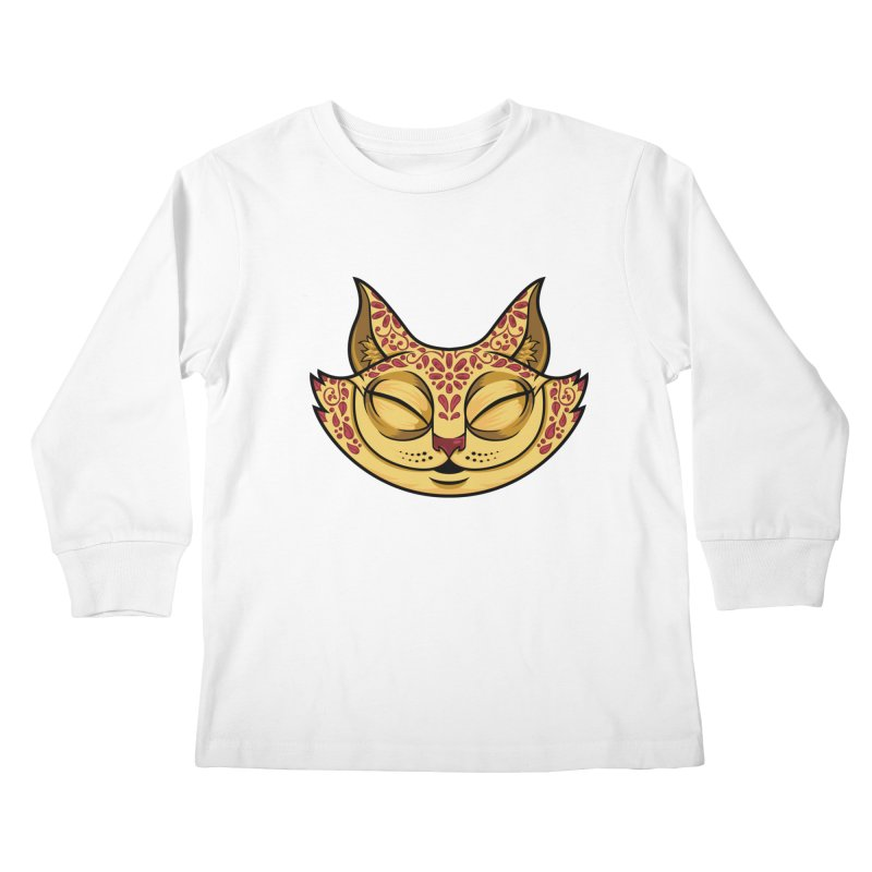 Cheshire Cat - Red Kids Longsleeve T-Shirt by bennygraphix's Artist Shop