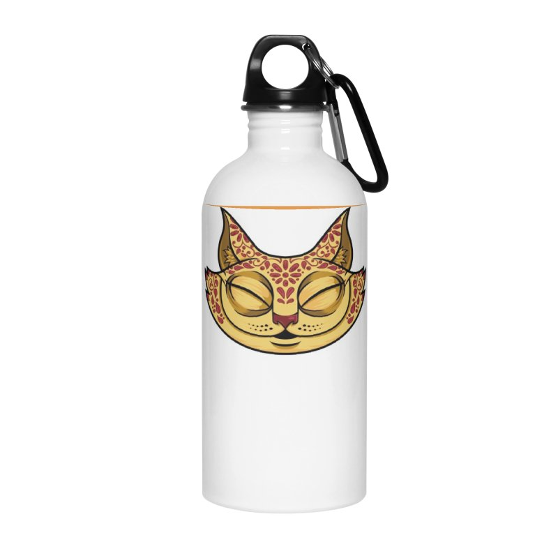 Cheshire Cat - Red Accessories Water Bottle by bennygraphix's Artist Shop