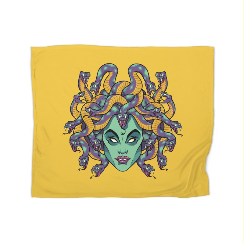 Medusa Home Fleece Blanket Blanket by bennygraphix's Artist Shop