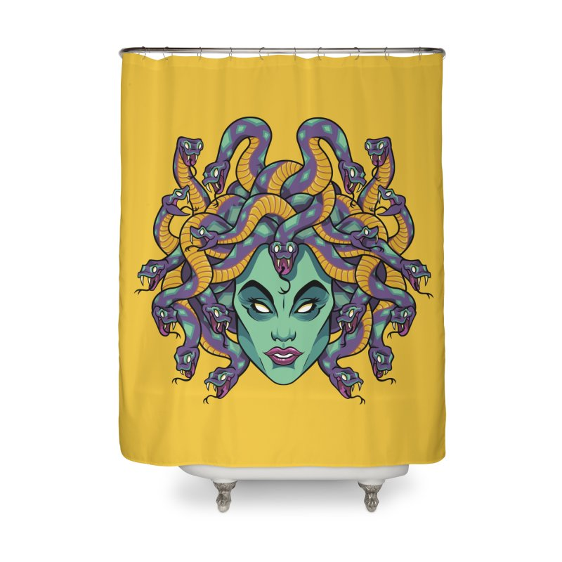 Medusa Home Shower Curtain by bennygraphix's Artist Shop