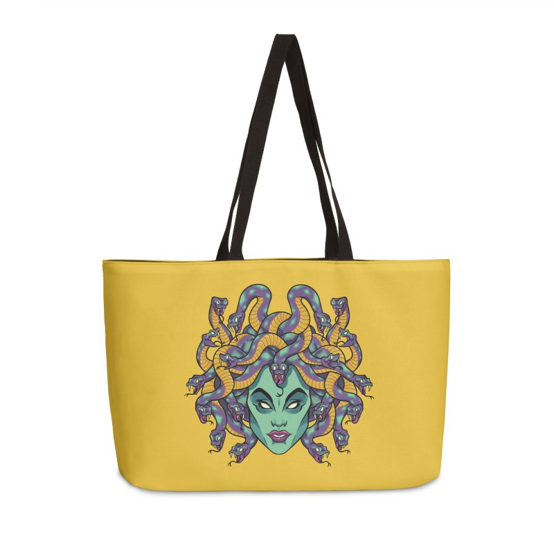 Medusa Accessories Weekender Bag Bag by bennygraphix's Artist Shop